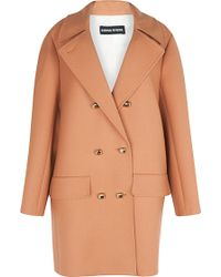 Sonia Rykiel Double Serge Wool Coat - Lyst