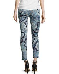 Marchesa Voyage - Cropped Tiedye Jeans - Lyst