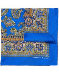 Turnbull & Asser Printed Silk Pocket Square - Lyst