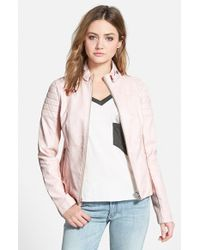 Sam Edelman Faux Leather Jacket - Lyst