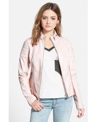 Sam Edelman  Faux Leather Jacket - Lyst