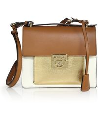 Ferragamo | Marisol Small Metallic Multicolor Leather Crossbody Bag | Lyst
