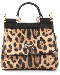 Dolce & Gabbana Animal Print Cross Body Bag - Lyst