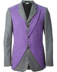 Comme Des Garçons Double Front Pinstriped Jacket - Lyst
