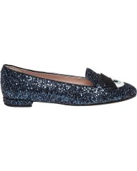 Chiara Ferragni | Cf655 Chiara Ferragn Navyi Glitter Smoking Shoe | Lyst