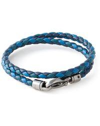 Tod's Blue Braided Bracelet - Lyst