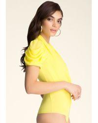 Bebe Drape Wrap Bodysuit - Lyst