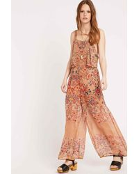 Staring At Stars - Andree Placed Flower Print Jumpsuit - Lyst