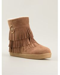 c819a91b204 Tory Burch - Collins Fringed Booties - Lyst