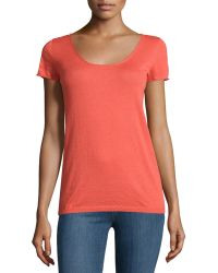 Todd And Duncan - Cashmere Gossamer Short-sleeve Sweater - Lyst