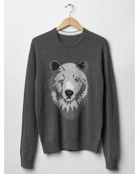 Gap Lambswool Bear Sweater - Lyst
