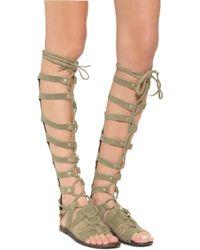 Free People - Cypress Tall Sandals - Tan - Lyst