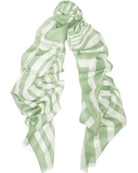 Tomas Maier - Paint Stroke Striped Modal And Silk-blend Scarf - Lyst