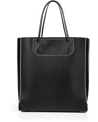 Alexander Wang Leather Mesh Prisma Tote black - Lyst