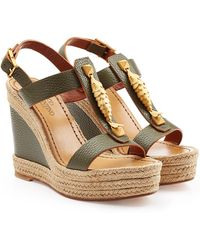 Valentino Leather Wedges - Lyst