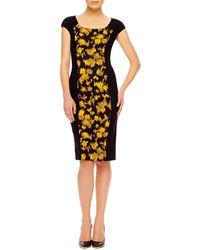 Michael Kors Leaf-Print Fitted Dress - Lyst