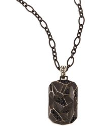 John Hardy Mens Classic Chain Lava Dog Tag Chain Necklace - Lyst