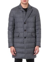 Moncler Mael Quilted Coat Grey - Lyst