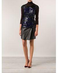 J. Mendel Asymmetrical Skirt black - Lyst