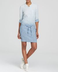 DKNY Ombré Check Shirt Dress - Bloomingdale'S Exclusive - Lyst