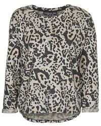Topshop Tall Animal Print Sweatshirt brown - Lyst