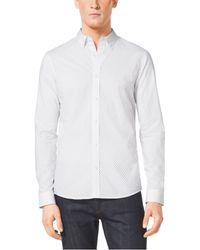 Michael Kors Slim-Fit Cotton Shirt - Lyst