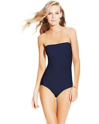 Vince Camuto Classic Bandeau Maillot - Lyst