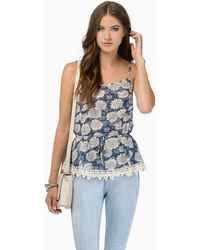 Tobi A Cinch Top - Lyst