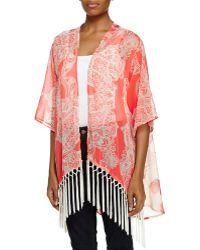 West Kei - Floral Voile Kimono Jacket - Lyst