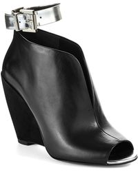 Kenneth Cole Broome Peep Toe Wedge Booties - Lyst