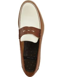 PS by Paul Smith - Tan & Off White Max Hermez Penny Loafers - Lyst