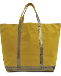 Vanessa Bruno Medium Tote Sequined Canvas - Lyst