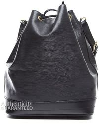 Louis Vuitton Black Epi Leather Noe Bag - Lyst