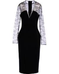 Antonio Berardi 3/4 Length Dress black - Lyst