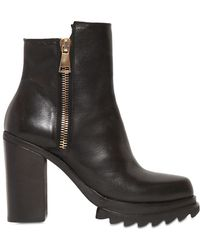 Strategia 100mm Zipped Calf Leather Ankle Boots - Lyst