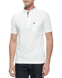 Fred Perry Tape-Tipped Short-Sleeve Polo Shirt - Lyst