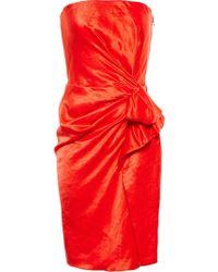 Lanvin - Strapless Drape Dress - Lyst