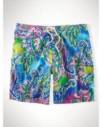 Polo Ralph Lauren Paisley 9 Swim Trunk - Lyst