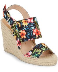 Dolce Vita Shady Floral-Print Canvas Espadrille Wedge Sandals multicolor - Lyst