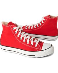 Converse Chuck Taylor All Star High Tops - For Men red - Lyst