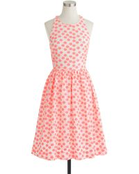 J.Crew Embroidered Floral Racer Dress - Lyst