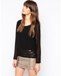 Pop Cph - Sheer Blouse With R-nack - Lyst