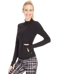 Betsey Johnson Asymmetrical Fitted Active Jacket - Lyst