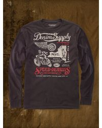 Denim & Supply Ralph Lauren Black Speed-demons Tee - Lyst
