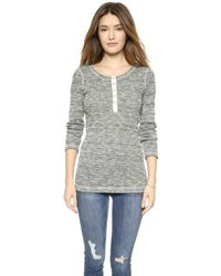 Splendid Marble Thermal Henley  - Lyst