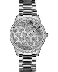 Guess Womens Silver-tone Bracelet Watch 40mm - Lyst