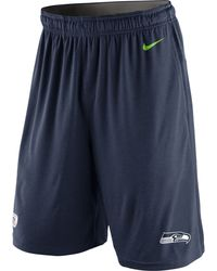 Nike Mens Seattle Seahawks Fly Shorts - Lyst