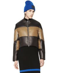 Alexander Wang Cropped Nylon Down Jacket black - Lyst