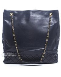 Chanel Lambskin Large Quilted Shoulder Bag - Lyst