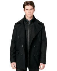Calvin Klein Double Breasted Peacoat - Lyst